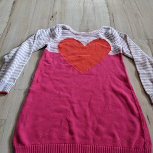 GYMBOREE GIRLS VALENTINES DAY GRAY PINK HEART KNIT